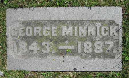 MINNICK, GEORGE - Clark County, Ohio | GEORGE MINNICK - Ohio Gravestone Photos