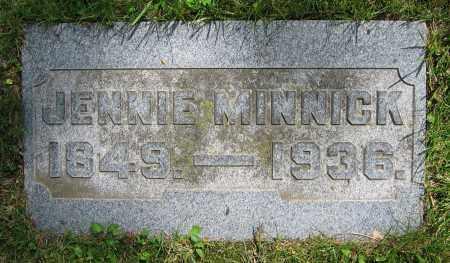 MINNICK, JENNIE - Clark County, Ohio   JENNIE MINNICK - Ohio Gravestone Photos