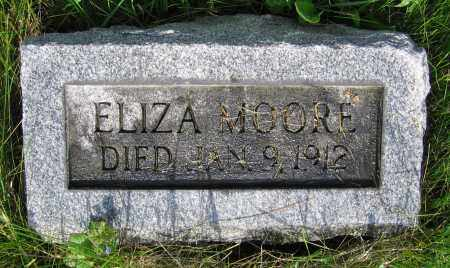 MOORE, ELIZA - Clark County, Ohio | ELIZA MOORE - Ohio Gravestone Photos