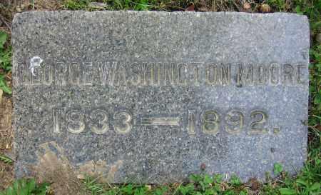 MOORE, GEORGE WASHINGTON - Clark County, Ohio | GEORGE WASHINGTON MOORE - Ohio Gravestone Photos
