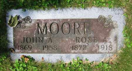 MOORE, JOHN A. - Clark County, Ohio | JOHN A. MOORE - Ohio Gravestone Photos