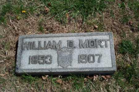 MORT, WILLIAM D. - Clark County, Ohio   WILLIAM D. MORT - Ohio Gravestone Photos