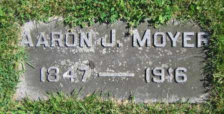 MOYER, AARON J. - Clark County, Ohio   AARON J. MOYER - Ohio Gravestone Photos