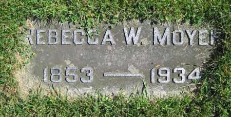 MOYER, REBECCA W. - Clark County, Ohio   REBECCA W. MOYER - Ohio Gravestone Photos
