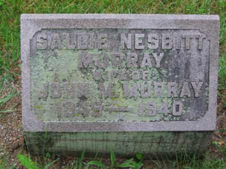 NESBITT MURRAY, SALLIE - Clark County, Ohio   SALLIE NESBITT MURRAY - Ohio Gravestone Photos