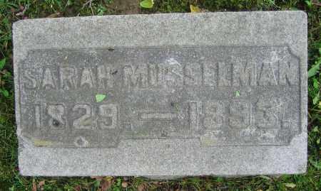 MUSSELMAN, SARAH - Clark County, Ohio   SARAH MUSSELMAN - Ohio Gravestone Photos