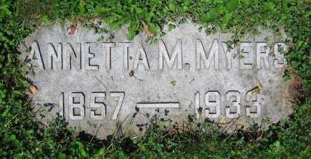 MYERS, ANNETTA M. - Clark County, Ohio | ANNETTA M. MYERS - Ohio Gravestone Photos