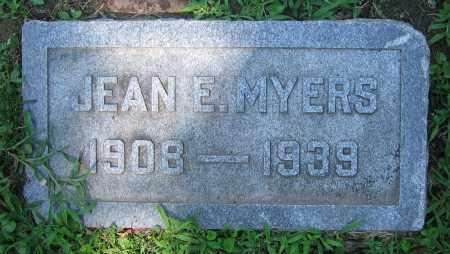MYERS, JEAN E. - Clark County, Ohio | JEAN E. MYERS - Ohio Gravestone Photos