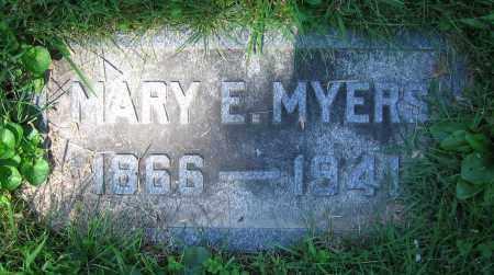 MYERS, MARY E. - Clark County, Ohio   MARY E. MYERS - Ohio Gravestone Photos