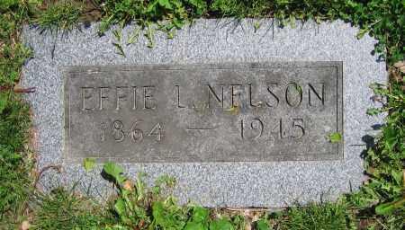 NELSON, EFFIE L. - Clark County, Ohio   EFFIE L. NELSON - Ohio Gravestone Photos