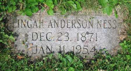 ANDERSON NESS, LINGAH - Clark County, Ohio | LINGAH ANDERSON NESS - Ohio Gravestone Photos