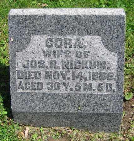 NICKUM, CORA - Clark County, Ohio | CORA NICKUM - Ohio Gravestone Photos