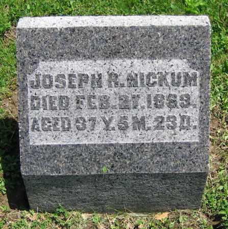 NICKUM, JOSEPH R. - Clark County, Ohio | JOSEPH R. NICKUM - Ohio Gravestone Photos