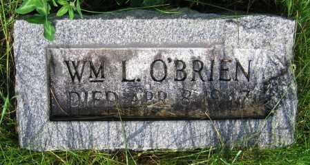 O'BRIEN, WM. L. - Clark County, Ohio | WM. L. O'BRIEN - Ohio Gravestone Photos