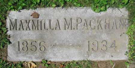 PACKHAM, MAXMILLA M. - Clark County, Ohio | MAXMILLA M. PACKHAM - Ohio Gravestone Photos