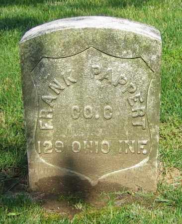 PAPPERT, FRANK - Clark County, Ohio | FRANK PAPPERT - Ohio Gravestone Photos