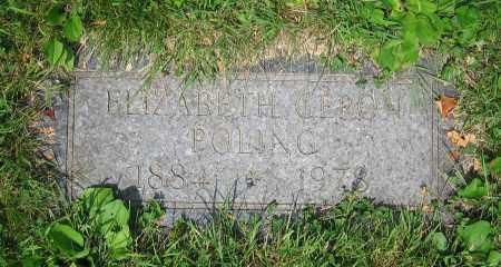 GERON POLING, ELIZABETH - Clark County, Ohio | ELIZABETH GERON POLING - Ohio Gravestone Photos