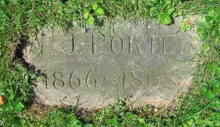 PORTER, A.J. - Clark County, Ohio   A.J. PORTER - Ohio Gravestone Photos