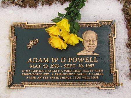 POWELL, ADAM WILLIAM DELANEY - Clark County, Ohio | ADAM WILLIAM DELANEY POWELL - Ohio Gravestone Photos