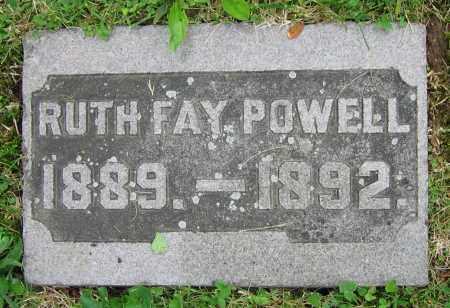 POWELL, RUTH FAY - Clark County, Ohio   RUTH FAY POWELL - Ohio Gravestone Photos