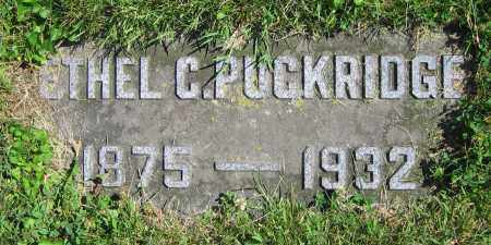 PUCKRIDGE, ETHEL C. - Clark County, Ohio   ETHEL C. PUCKRIDGE - Ohio Gravestone Photos