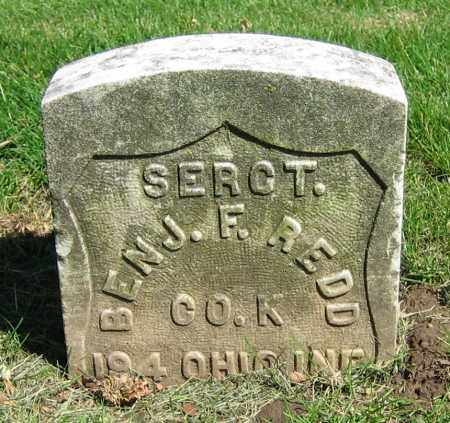 REDD, BENJ. F. - Clark County, Ohio | BENJ. F. REDD - Ohio Gravestone Photos
