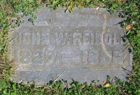 REIBOLD, JOHN W. - Clark County, Ohio   JOHN W. REIBOLD - Ohio Gravestone Photos