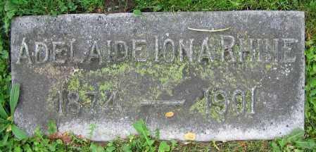 RHINE, ADELAIDE IONA - Clark County, Ohio | ADELAIDE IONA RHINE - Ohio Gravestone Photos