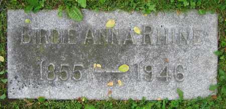 RHINE, BIRDIE ANNA - Clark County, Ohio | BIRDIE ANNA RHINE - Ohio Gravestone Photos