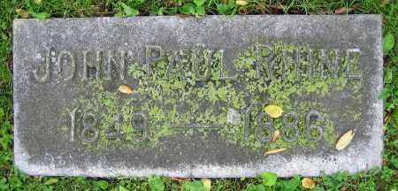 RHINE, JOHN PAUL - Clark County, Ohio | JOHN PAUL RHINE - Ohio Gravestone Photos