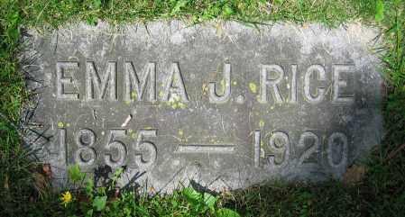 RICE, EMMA J. - Clark County, Ohio | EMMA J. RICE - Ohio Gravestone Photos