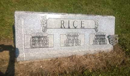 RICE, AUTICE - Clark County, Ohio | AUTICE RICE - Ohio Gravestone Photos