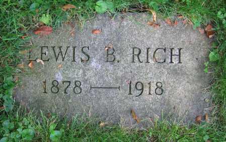RICH, LEWIS B. - Clark County, Ohio   LEWIS B. RICH - Ohio Gravestone Photos