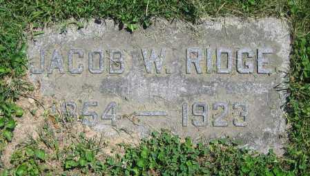 RIDGE, JACOB W. - Clark County, Ohio | JACOB W. RIDGE - Ohio Gravestone Photos