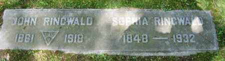 RINGWALD, JOHN - Clark County, Ohio | JOHN RINGWALD - Ohio Gravestone Photos