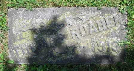 ROAHEN, THOMAS - Clark County, Ohio   THOMAS ROAHEN - Ohio Gravestone Photos