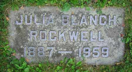 ROCKWELL, JULIA BLANCH - Clark County, Ohio | JULIA BLANCH ROCKWELL - Ohio Gravestone Photos