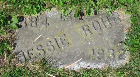 ROHR, JESSIE - Clark County, Ohio | JESSIE ROHR - Ohio Gravestone Photos