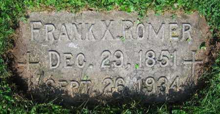 ROMER, FRANK X. - Clark County, Ohio   FRANK X. ROMER - Ohio Gravestone Photos