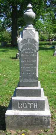 ROTH, MARGARETHA - Clark County, Ohio   MARGARETHA ROTH - Ohio Gravestone Photos