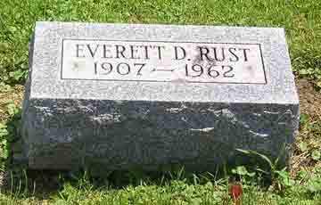 RUST, EVERETT D. - Clark County, Ohio | EVERETT D. RUST - Ohio Gravestone Photos