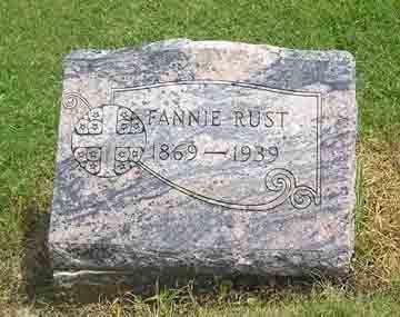 RUST, FANNIE - Clark County, Ohio | FANNIE RUST - Ohio Gravestone Photos