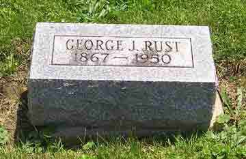 RUST, GEORGE J. - Clark County, Ohio | GEORGE J. RUST - Ohio Gravestone Photos