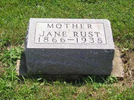 RUST, JANE - Clark County, Ohio | JANE RUST - Ohio Gravestone Photos