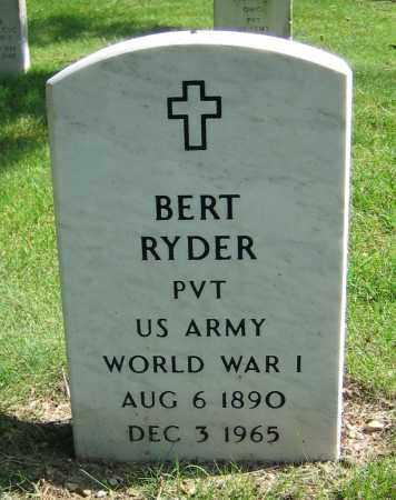 RYDER, BERT - Clark County, Ohio | BERT RYDER - Ohio Gravestone Photos