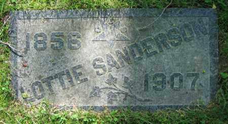 SANDERSON, LOTTIE - Clark County, Ohio | LOTTIE SANDERSON - Ohio Gravestone Photos