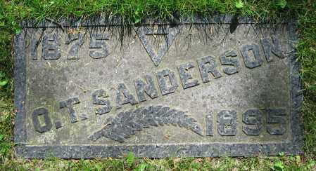 SANDERSON, O.T. - Clark County, Ohio | O.T. SANDERSON - Ohio Gravestone Photos