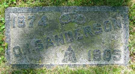 SANDERSON, O.I. - Clark County, Ohio | O.I. SANDERSON - Ohio Gravestone Photos