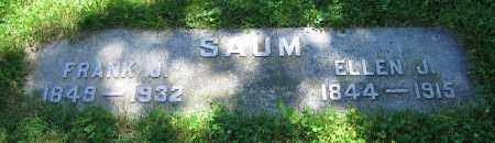 SAUM, FRANK J. - Clark County, Ohio | FRANK J. SAUM - Ohio Gravestone Photos
