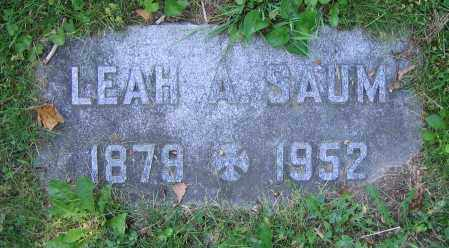 SAUM, LEAH A. - Clark County, Ohio | LEAH A. SAUM - Ohio Gravestone Photos
